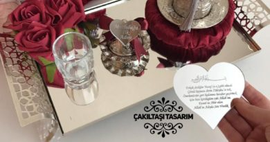 Çakıltaşı Tasarım - Kulplu Kahve Tepsisi