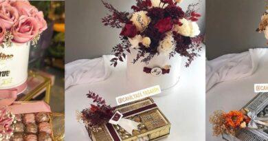 kız isteme çiçeği ve çikolatası